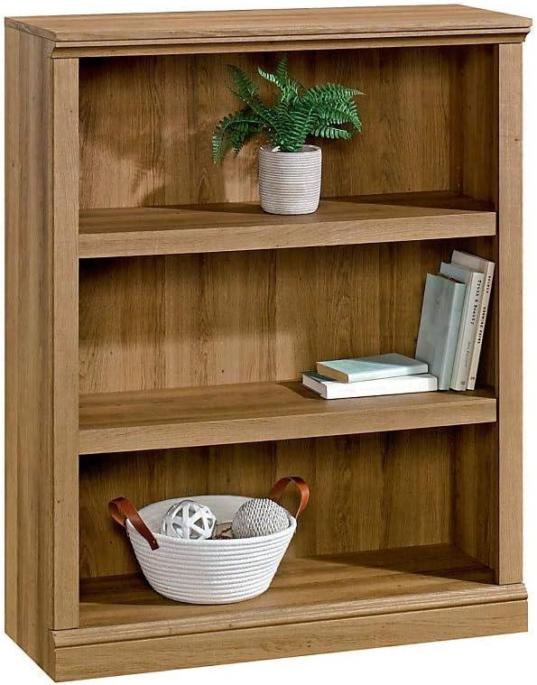 Realspace Premium Bookcase, 3-Shelf, Golden Oak