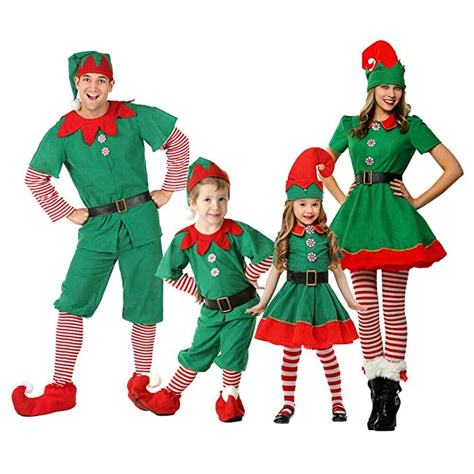 Xingsiyue Disfraz de Elfo para Navidad, Halloween Carnaval ...