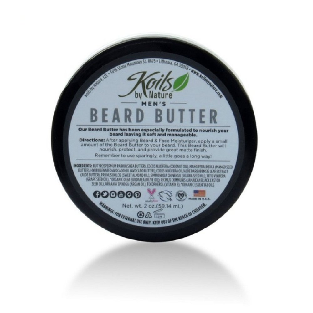 Koils by Nature Beard Butter, 2 Fluid Ounce