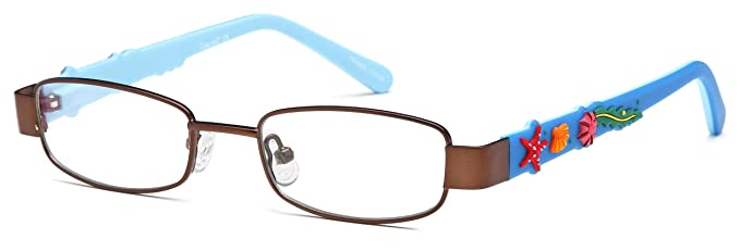 ac741d7063d Childrens Under The Sea Glasses Frames Brown Kids Prescription Eyeglasses  43-16-125