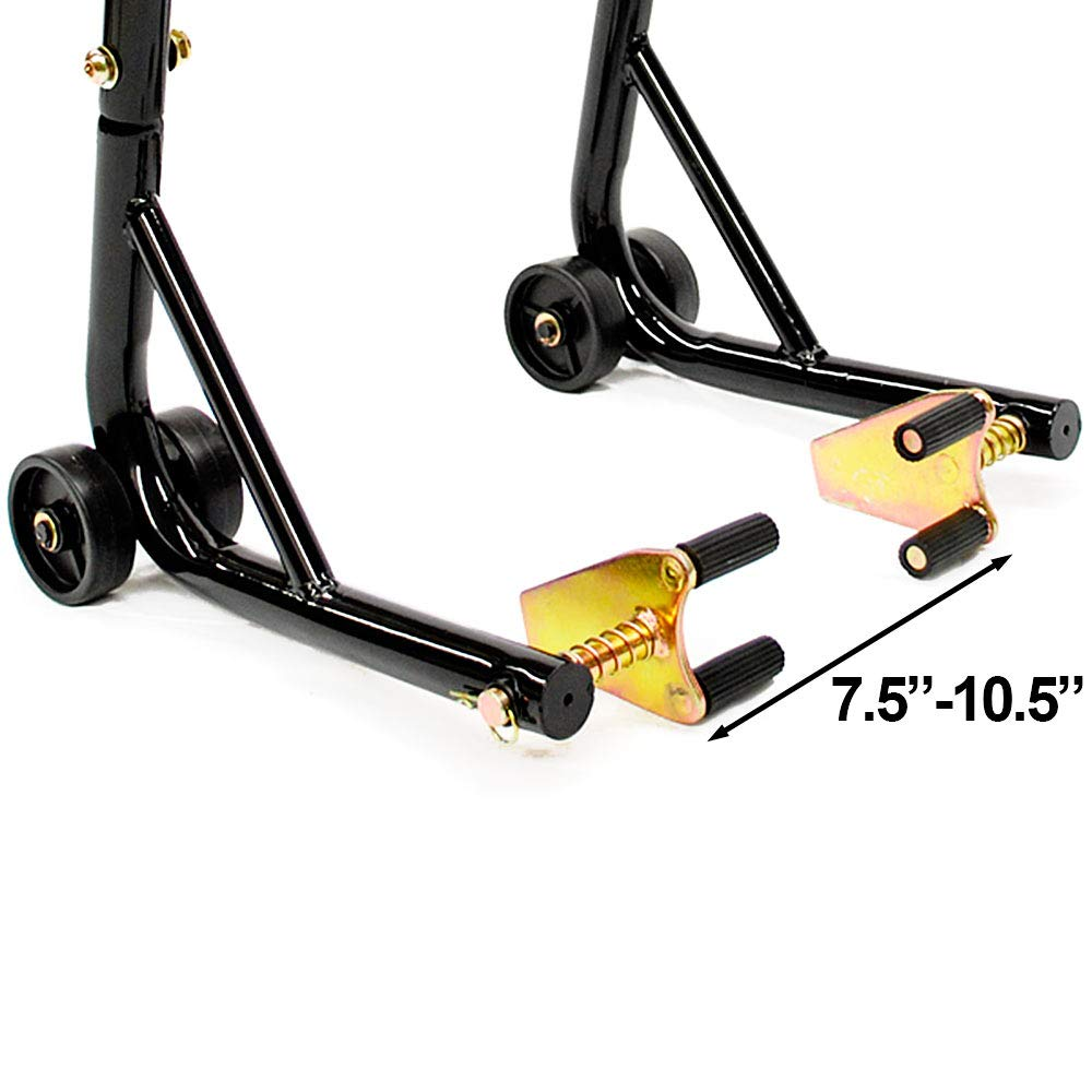 Motorcycle Front+Rear Dual Lift Stand w//Spools For Kawasaki ZRX1200//R 2001-2005