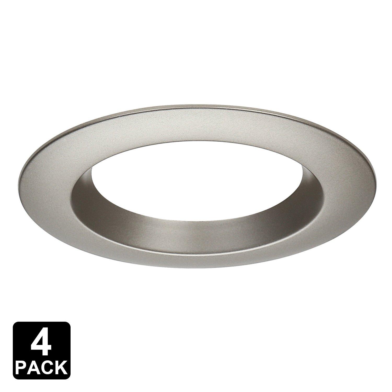 Torchstar 4 pack 4 inch interchangeable trim ring recessed light fixture trim for torchstar recessed downlight asin b01m1hxfs6 b01m167d0r white
