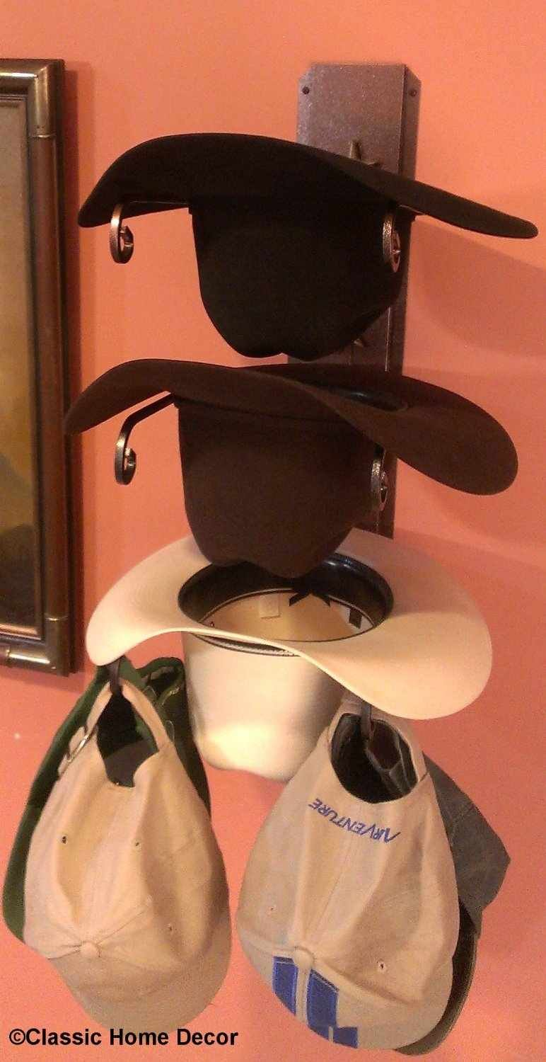 Mark Christopher Collection American Made Cowboy Hat Holder Rust with Gold Stars Classic Home Decor 663 STAR CT