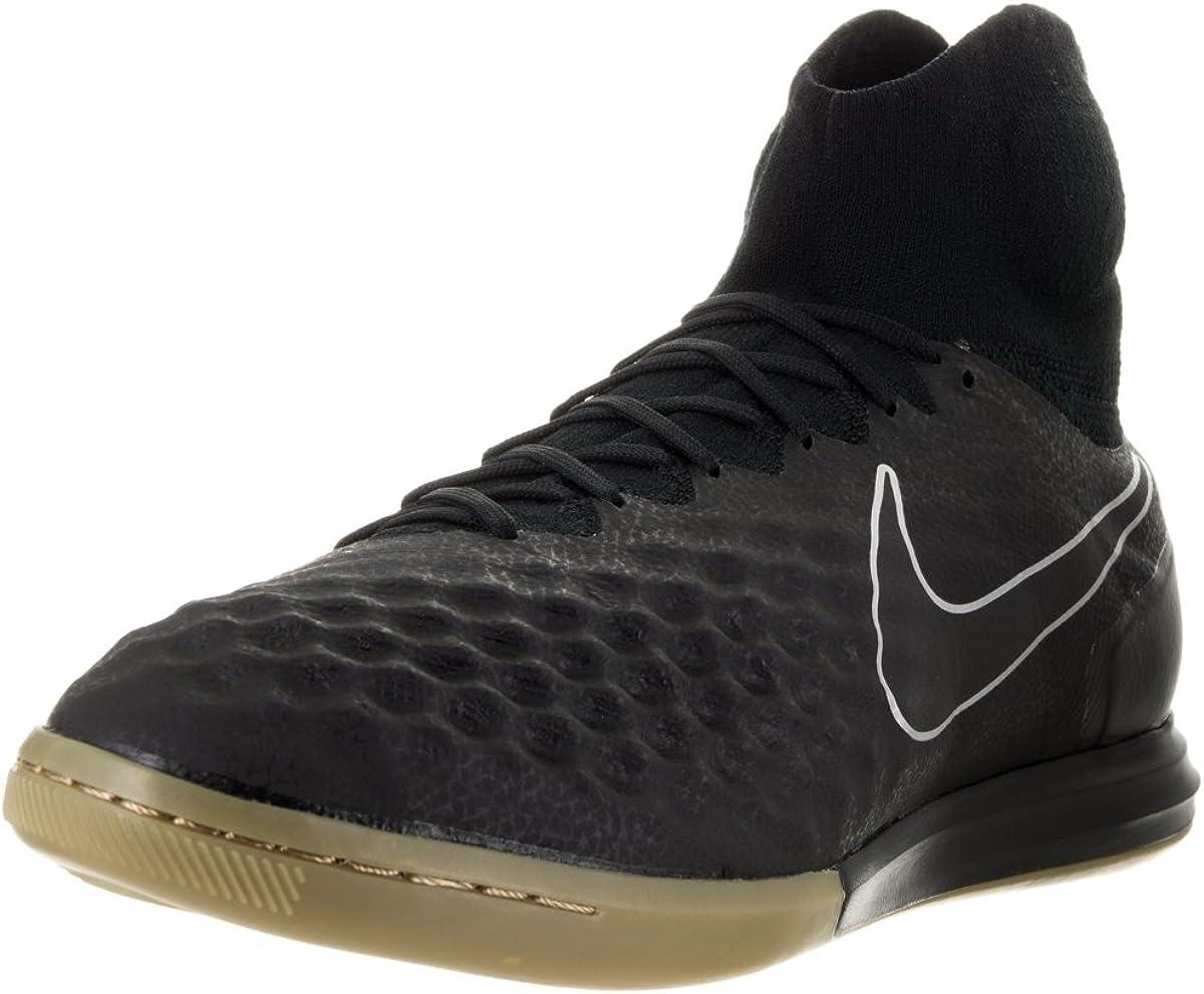 Nike Men's Magistax Proximo II Indoor Black Gum Light Brown Shoes