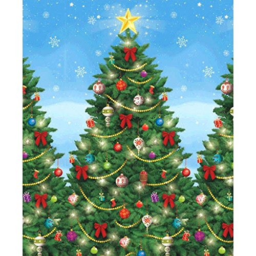 Amscan Evergreen Christmas Scene Setters Plastic Room Rolls Wall Decoration (4 Piece), 48