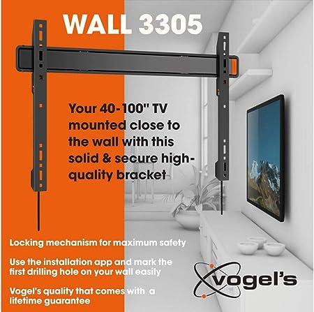 Vogels WALL 3305, Ultra fuerte soporte de pared para TV muy grande (102-254 cm, 40: Vogels: Amazon.es: Electrónica