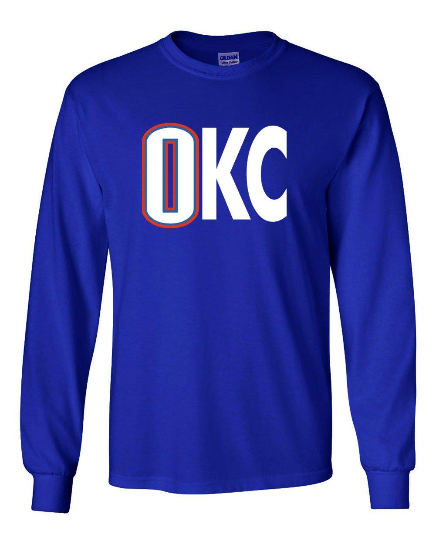 The Silo Long Sleeve Blue Oklahoma City Westbrook OKC T-Shirt