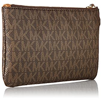 5b02cc96ec77 MICHAEL Michael Kors Signature Jet Set Item Medium Wristlet - Luxury ...