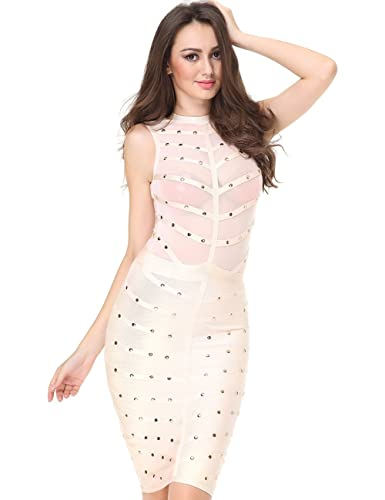 Adyce Bandage-Dress-Nude Hot Transparent Overbust Corset Elegant-See Throught Prom Bodycon Pencil Ti...