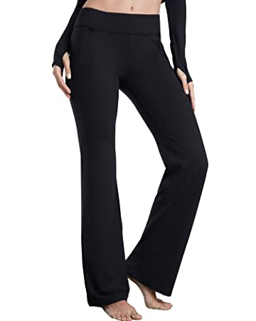 delicate colors limited sale purchase genuine Bamans Womens High Waist Boot-Cut Yoga Pants 2.3