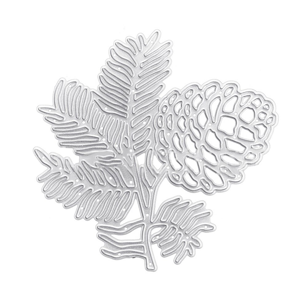 Bangle009 Clearance Sale Pine Cone Leaves Metal Cutting Dies DIY Scrapbook Photo Album Embossing Tool
