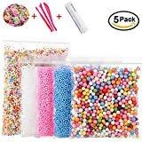 Arts & Crafts : Foam Beads for DIY Slime – Craft Styrofoam Balls 0.1-0.35 inch(47000pcs) for Kids Homemade Slime, Home Decorative, Wedding and Party Decorations (5 Pack)