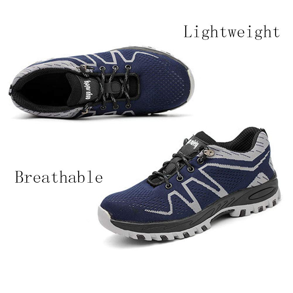 ZSXWIN Breathable Women Men Work Steel Toe Boots Comp Safety Shoes