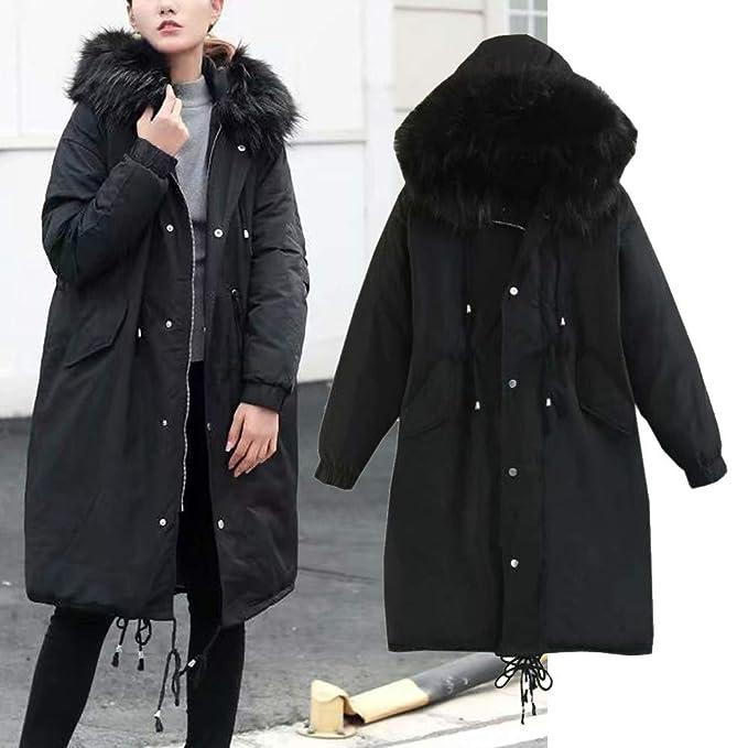 Abrigo de Invierno para Mujer cálido, Abrigo de Chaqueta de Bolsillo con Cremallera