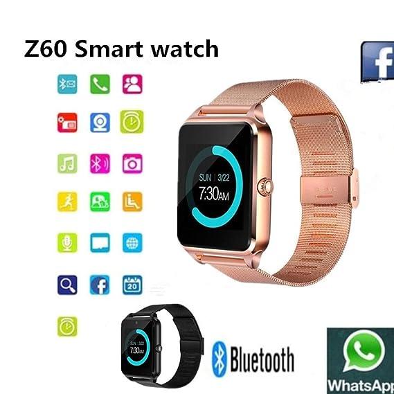 Amazon com: Bluetooth Smart Watch Fitness Tracker, Sport