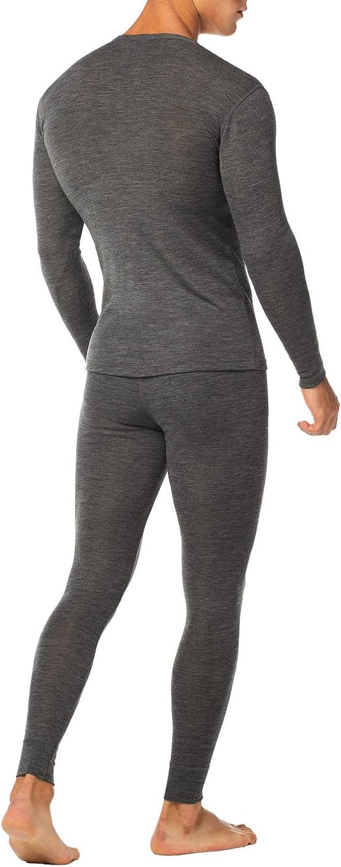 LAPASA Mens 100/% Merino Wool Thermal Underwear Long John Set Lightweight Base Layer Top and Bottom M31