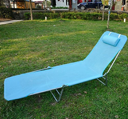 Outdoor Folding Reclining Beach Sun Patio Chaise Lounge Chair Pool Lawn Lounger by Purplebox Home Series