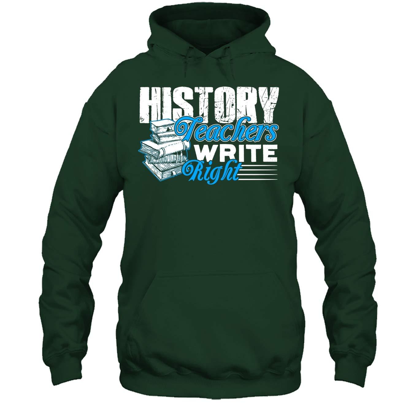 History Teacher Cool Tee Shirt History Teachers Write Right Tshirt