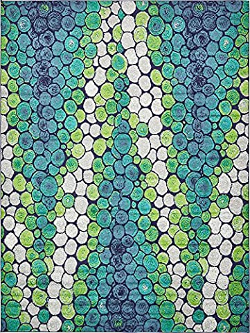 Modern Abstract 9 feet by 12 feet (9' x 12') Metro Light Green Contemporary Area Rug