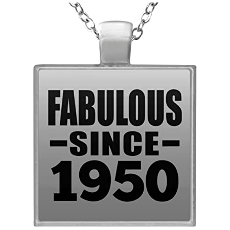 69th Birthday Fabulous Since 1950 - Square Necklace Collar ...