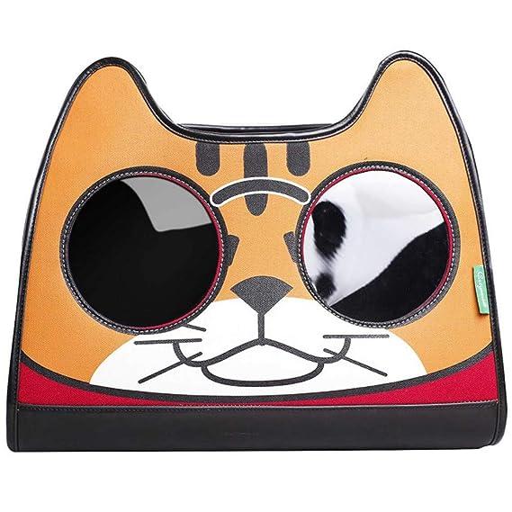 CSDAHombro Mochila Bolsa de portátil Marca Marea Gato explosivos Hombro Mochila Bolsa de Pet Cat,Orange: Amazon.es: Productos para mascotas