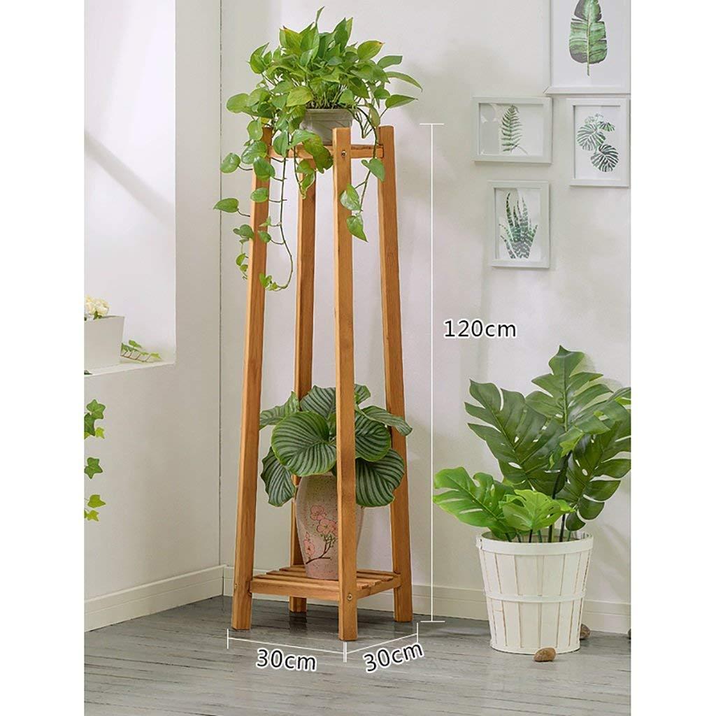 PIN Mobili per la casa Flower Stand in Legno massello a più Livelli Landing Flower Stand Balcone Soggiorno Flower Pot Rack Shelf,120 Centimetri,A