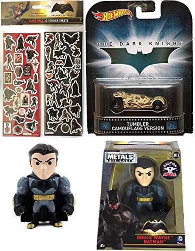 Hot Wheels Tumbler Camo Retro & DC Comics 2017 Metal figure Bruce Wayne Batman Die-Cast + Bonus Stickers