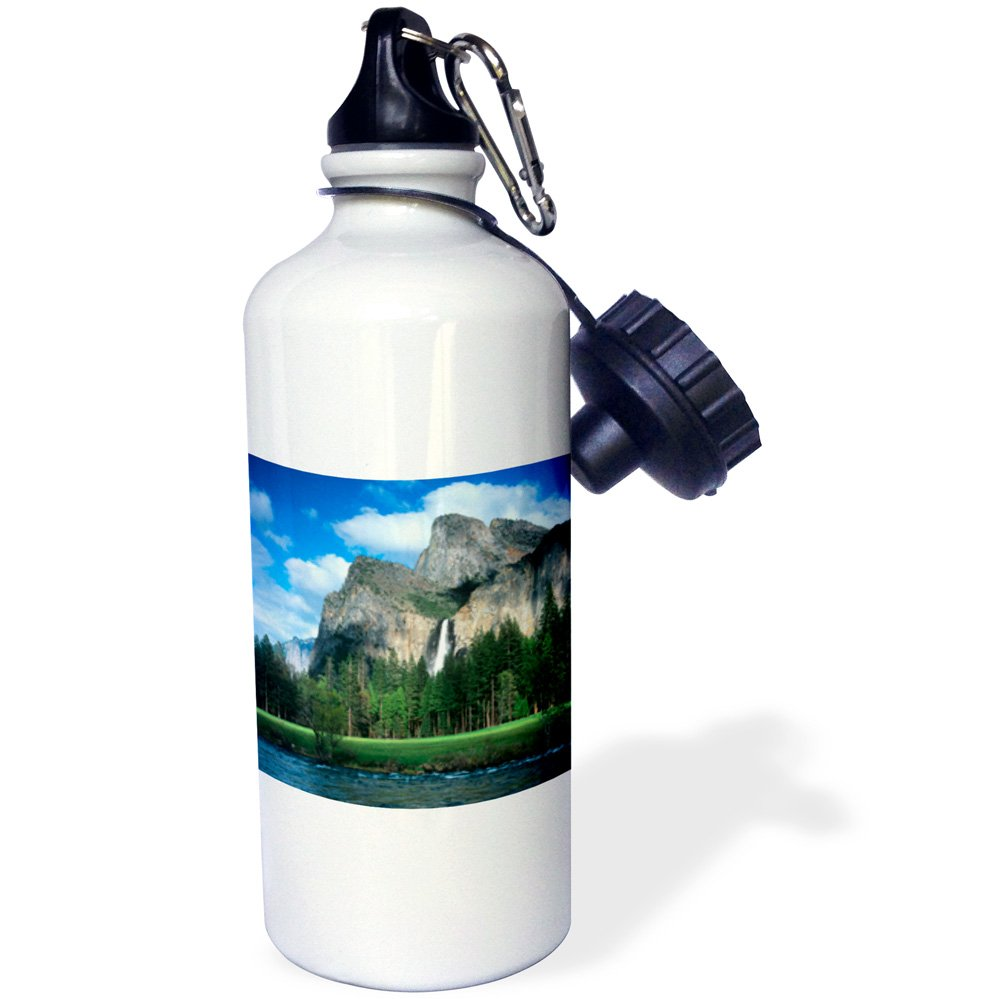 California 3dRose wb/_142727/_1Bridal Veil Falls 21 oz Yosemite White USA US05 JAL0165 John Alves Sports Water Bottle