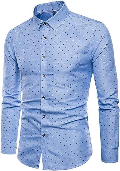 Overdose Camisas Hombre Manga Larga Lunares Slim Fit Tallas Grandes Formal Ibicenca Camisas Hombre Coderas Para Bodas De Vestir Blusa Amazon Es Ropa Y Accesorios