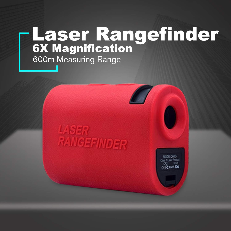 Foreverharbor NORM 600m Laser Rangefinder Range Finder Telescope Handheld Distance Meter Speed Measuring Tape Mini Golf Hunting Outdoor