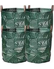 LIVINGbasics 4-Pack 132 Gallon Gardening Bags for Lawn Yard, Extra Large Reusable Leaf, Waste and Trash Container