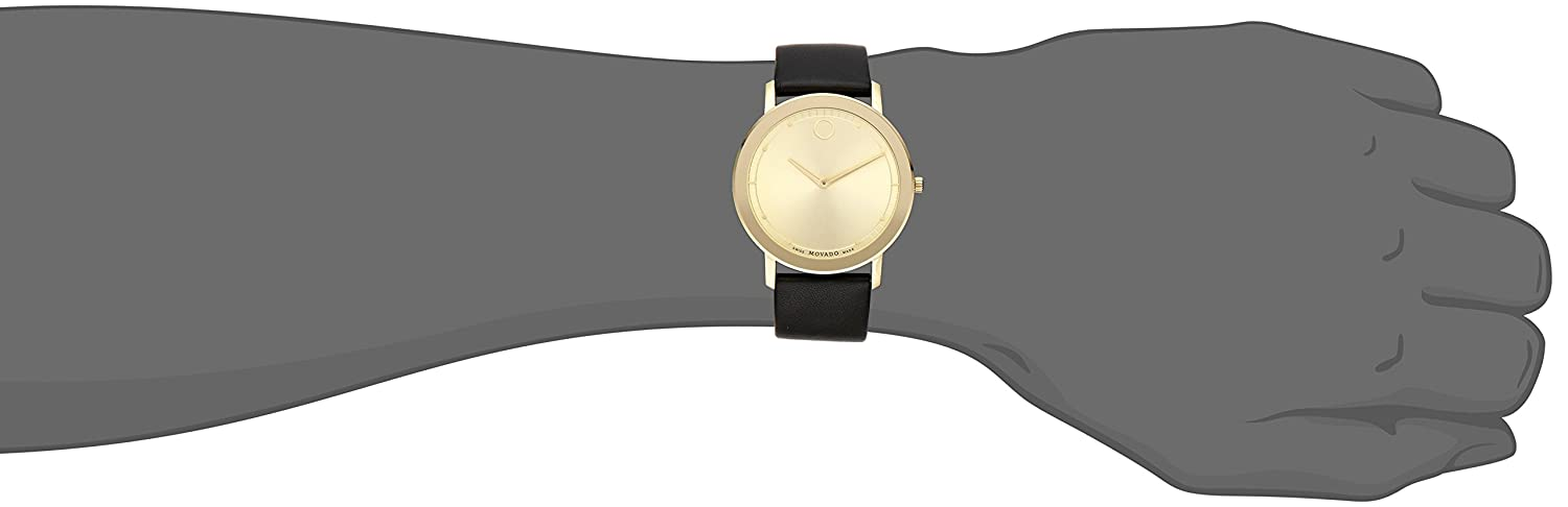 17ba61f86 Buy Movado Men's 0606883 Analog Display Swiss Quartz Black Watch Online at  Low Prices in India - Amazon.in