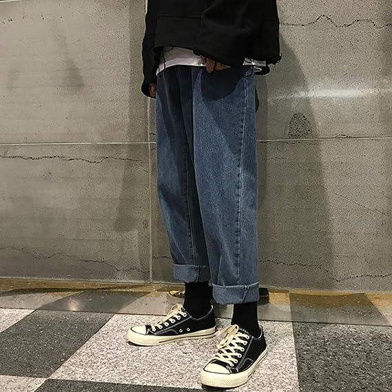 Beesclover Blue Jeans Pantalones Anchos Para Hombre Pantalones Rectos Estilo Coreano Suelto 2019 217 Jeans Xxxxxl Amazon Com Mx Ropa Zapatos Y Accesorios