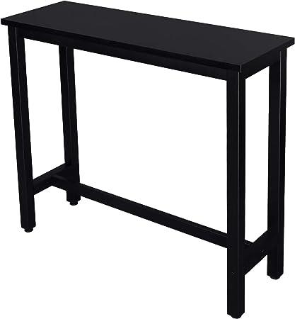 eSituro SBST0331 Table de Bar Structure en métal,Table de Cuisine Design  Industriel 120x40x100cm,Noir