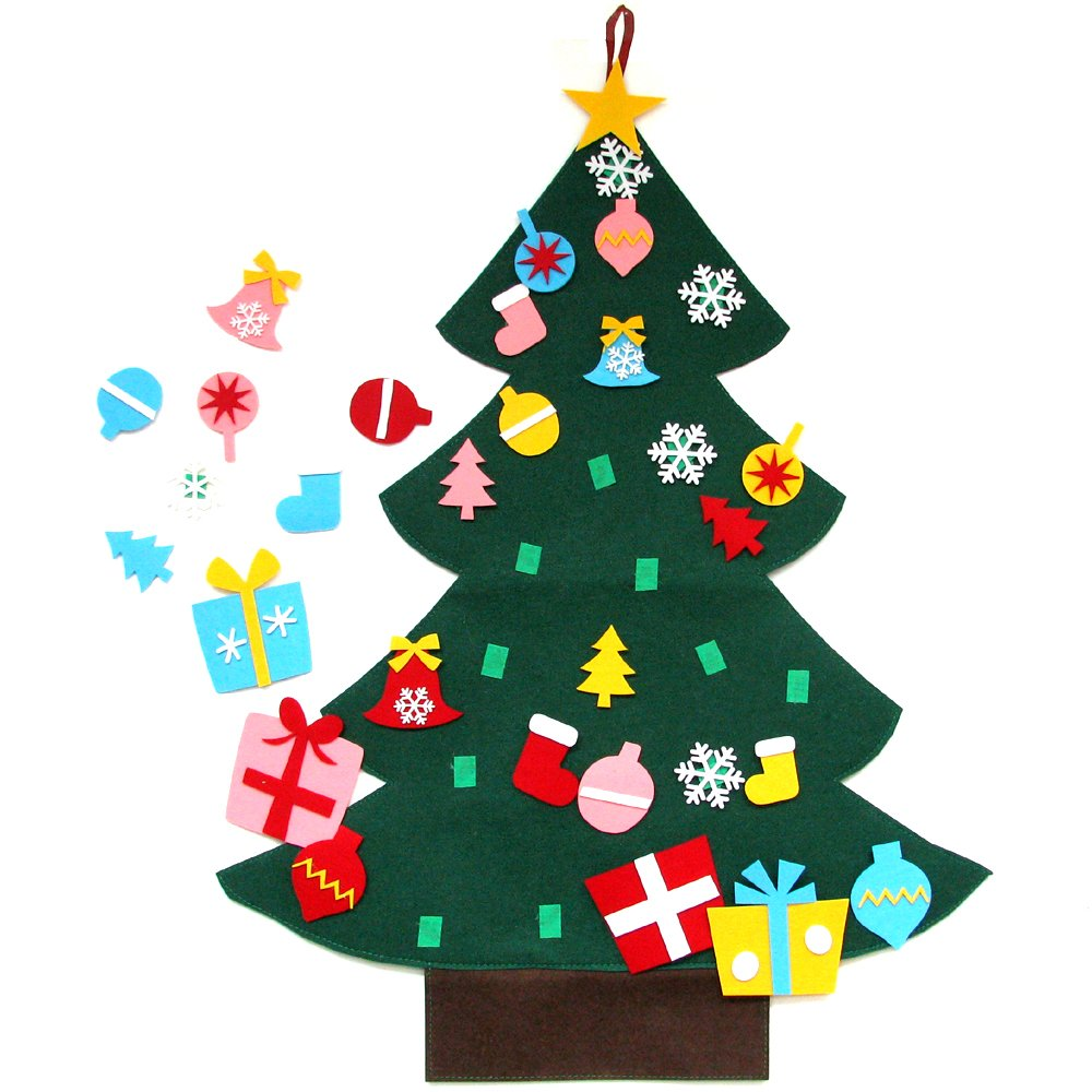 3ft Felt Christmas Tree Set with Ornaments - Wall Hanging Decoration ...