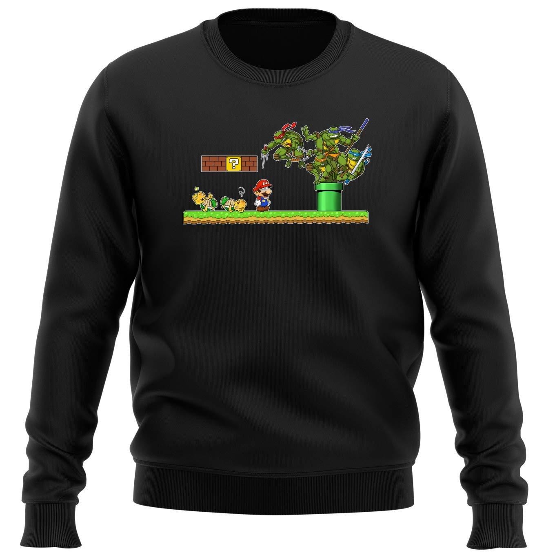 OKIWOKI Sudadera Negra Las Tortugas Ninja - Super Mario ...
