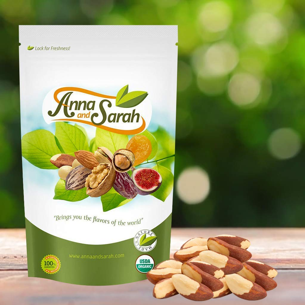 Anna and Sarah Organic Raw Brazil Nuts 3 Lbs in Resealable Bag by Anna and Sarah (Image #4)