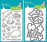 Lawn Fawn Critters In The Sea Clear Stamp and Die Set - Includes One Each of LF311 (Stamp) & LF776 (Die) - Custom Set