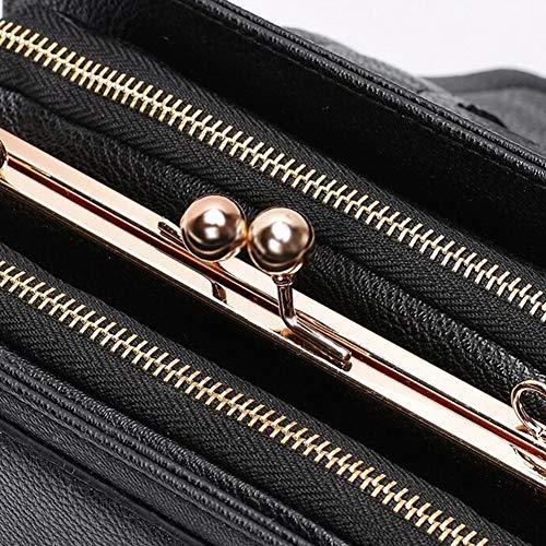Bolso del Vintage Cadena Colores 10 Mensajero De Largo Brown Estilo Bolso del Brown del Bolso De Británico Opcionales 15CM Hombro Bolso 22 3 XRKZ 6X8w55