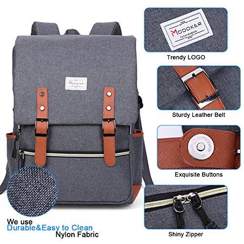 Modoker Vintage Laptop Backpack for Women Men,School College Backpack 4
