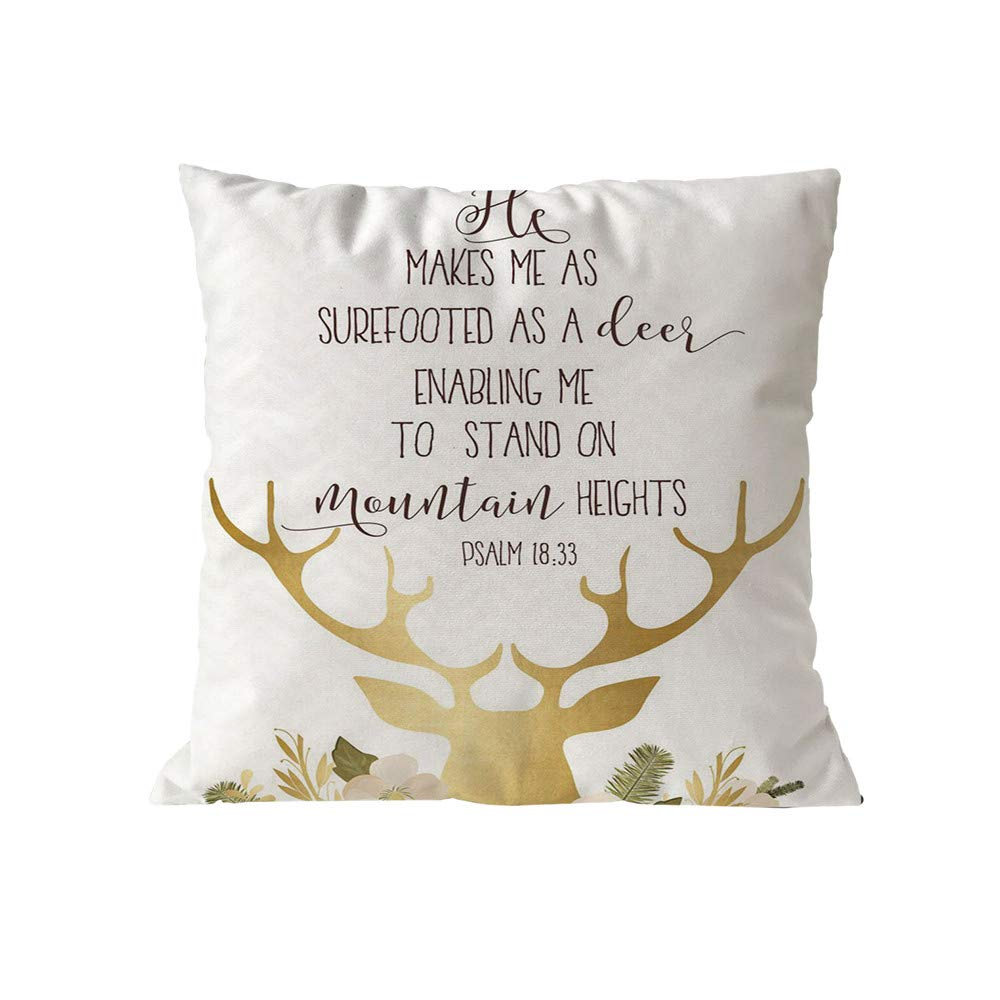 Cotton Blend Pgojuni Merry Christmas Pillow Cases Soft Sofa Cushion Cover Home Decor Sofa/Couch 1pc (D)