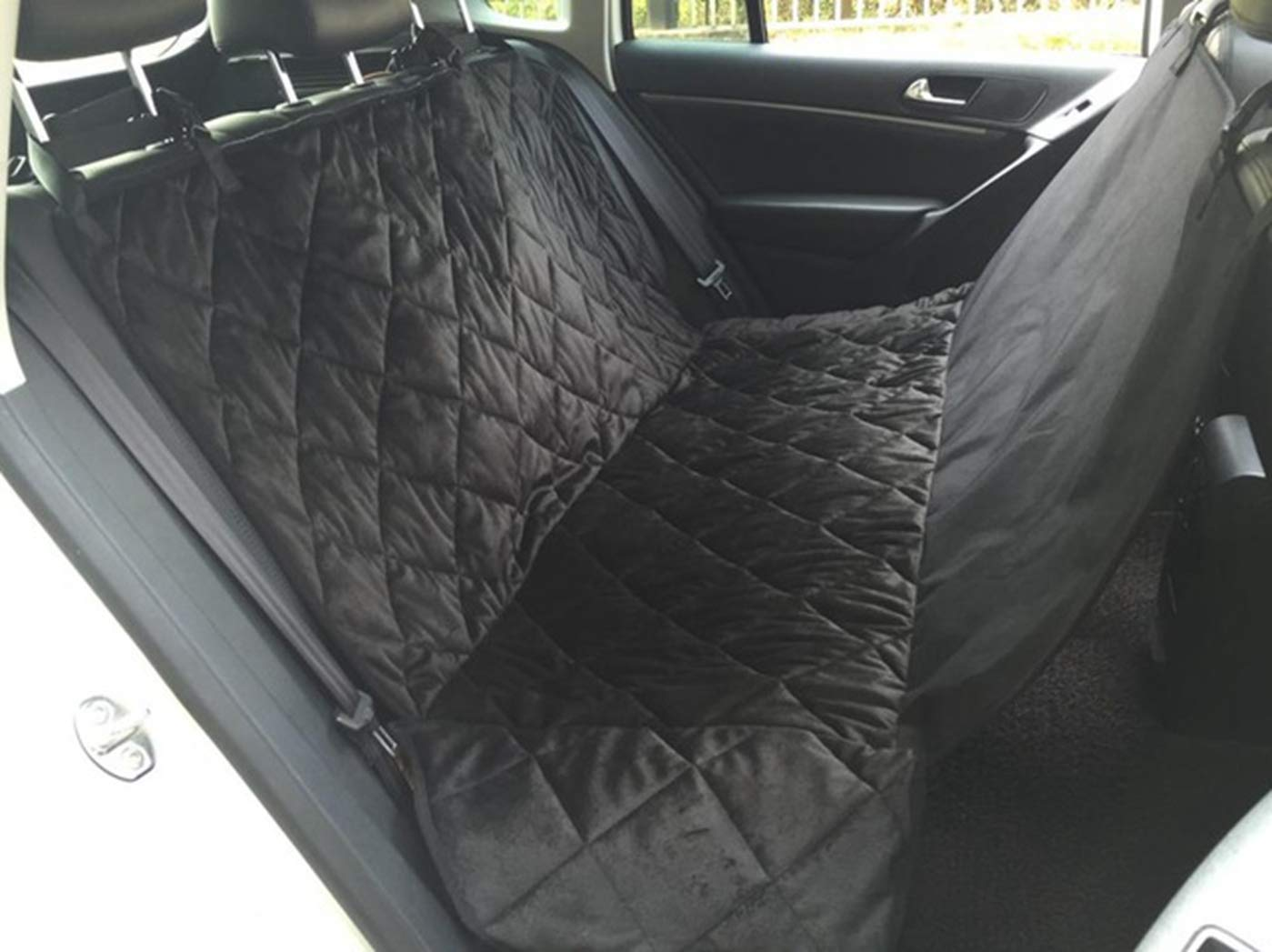 BLACK M BLACK M SENERY Pet Dog Car Seat Cover,Car Boot Pet Seat Waterproof Short Plush Quilted Car Interior Travel Accessories