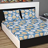 Divine Casa 100% Cotton Single and Double Bedsheet with Pillow Covers