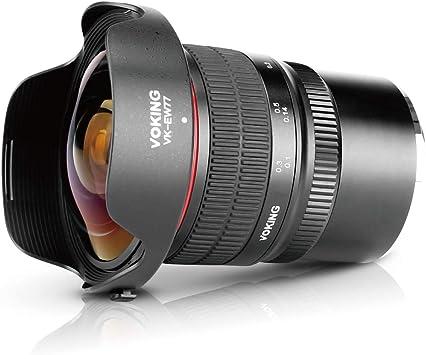 Voking 8mm f//3.5 Ultra Wide Angle Manual Focus Rectangle Fisheye Lens for Micro 4//3 MFT M4//3 Panasonic Olympus Lumix Digital Mirrorless Cameras