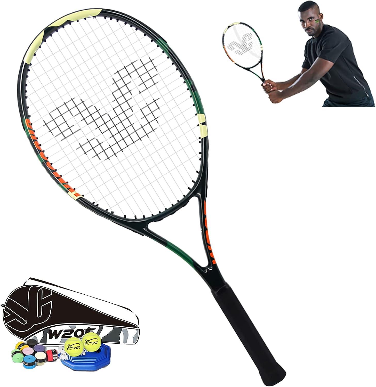 MMIAOO Raqueta de tenis unisex de 26 pulgadas, zona de la raqueta de 102 pulgadas, para principiantes y jugadores de ocio