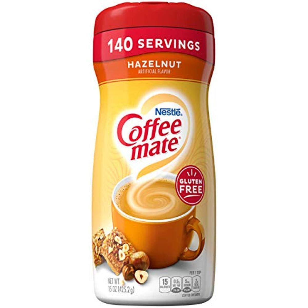 Coffee-Mate Coffee Creamer Hazelnut, 15 Ounce (Pack of 6)