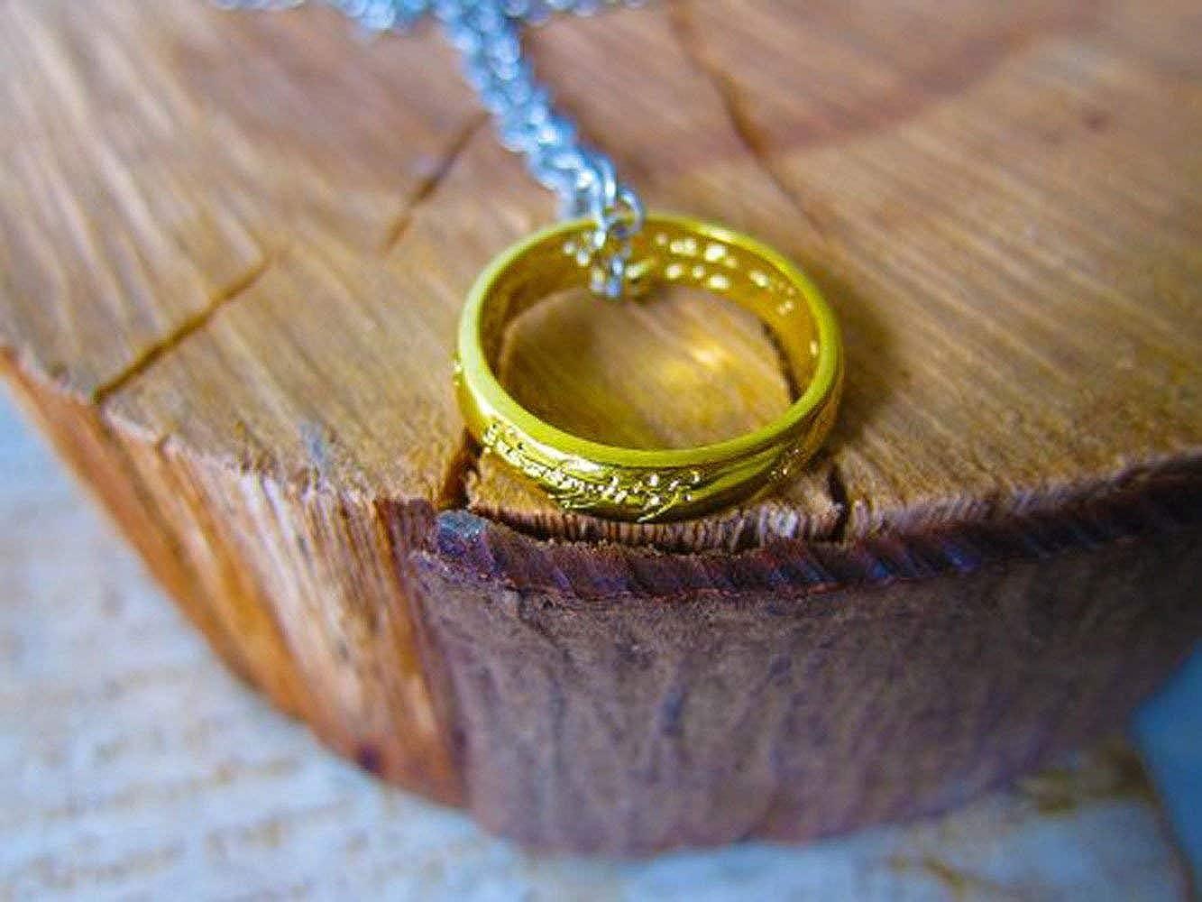 OUTLETISSIMO/® Collana Ciondolo Anello Signore degli Anelli Hobbit Lord of The Rings
