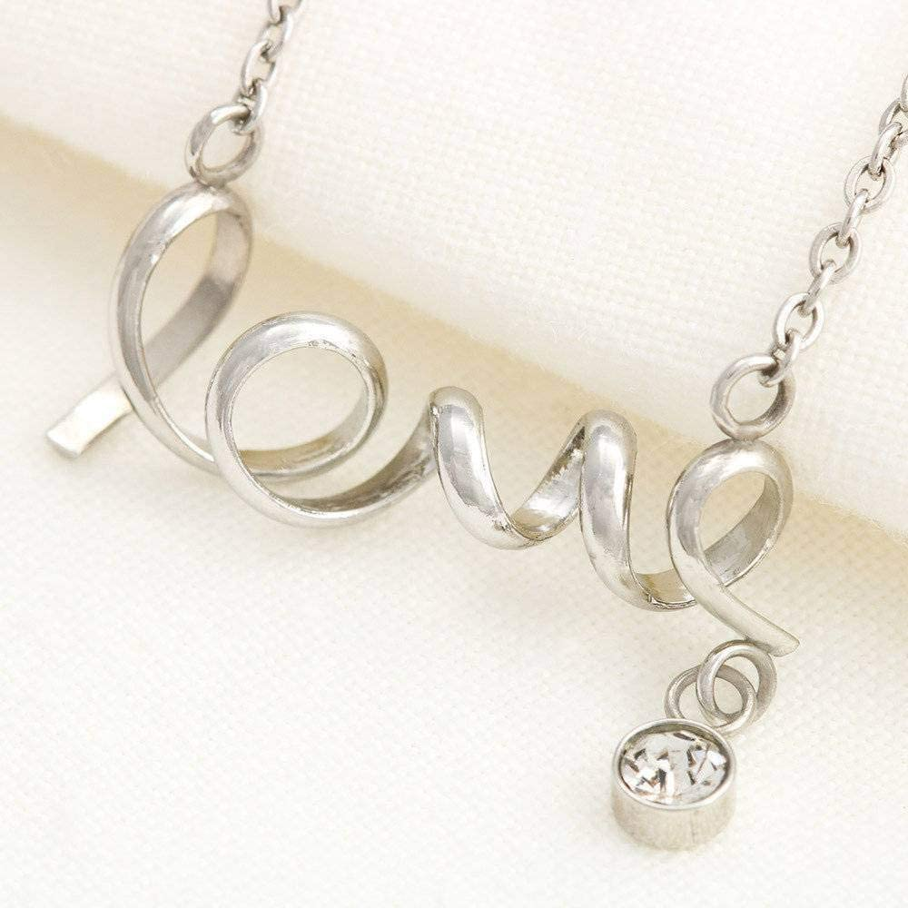 Scripted Necklace Stainless Steel Mothers Day Je No Words Meaningful Mom Gift