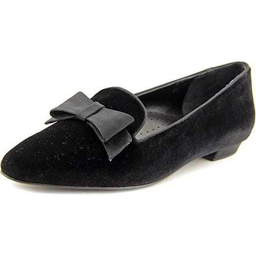 Womens Shoes Vaneli Slip On Flat Loafers Black Suede Size 9A