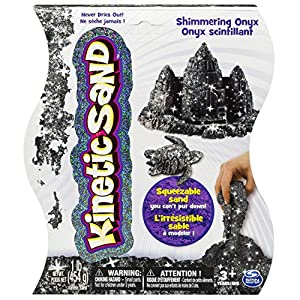 Kinetic Sand 1-Pound Sand, Black Onyx - 611lOKCO9PL - Kinetic Sand The One and Only, 1lb Shimmering Black Onyx Magic Sand for Ages 3 and Up